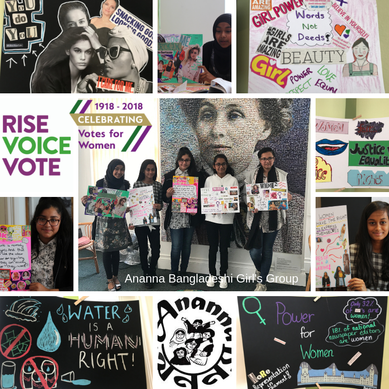 Ananna Bangladeshi Girl's Group visit the Pankhurst Centre and talk Rise, Voice, Vote